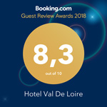 Hôtel val de loire : booking awards 2018